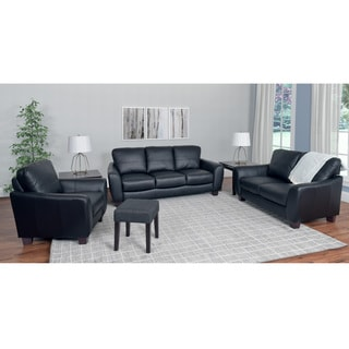 CorLiving Jazz 3-piece Bonded Leather Sofa Set