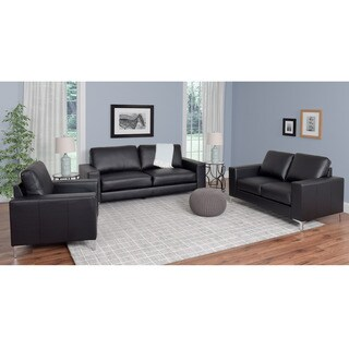 CorLiving Cory 3-piece Contemporary Bonded Leather Sofa Set
