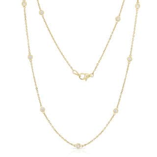 Noray Designs 14k Yellow Gold 1/2ct TDW 10 Station Necklace|https://ak1.ostkcdn.com/images/products/12734249/P19513124.jpg?impolicy=medium