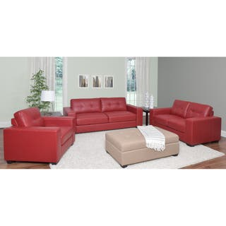 Red living room furniture sets for less - Red leather living room furniture set ...