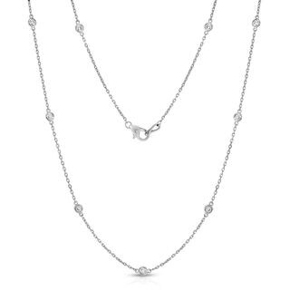 Noray Designs 14k White Gold 1ct TDW 10 Station Necklace