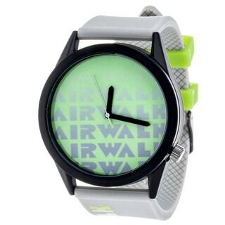 Airwalk Metal Alloy Case w/ Grey Silicon Strap Analog Watch