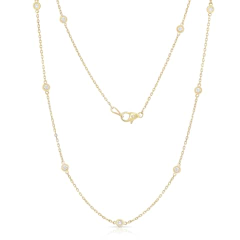Noray Designs 14k Yellow Gold 1ct TDW 10 Station Necklace