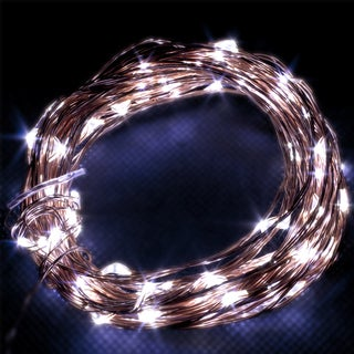 LED Concepts White Copper Wire Christmas Lights