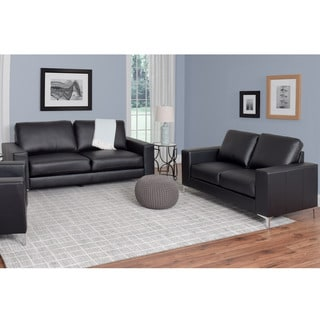 CorLiving Cory 2-piece Contemporary Bonded Leather Sofa Set