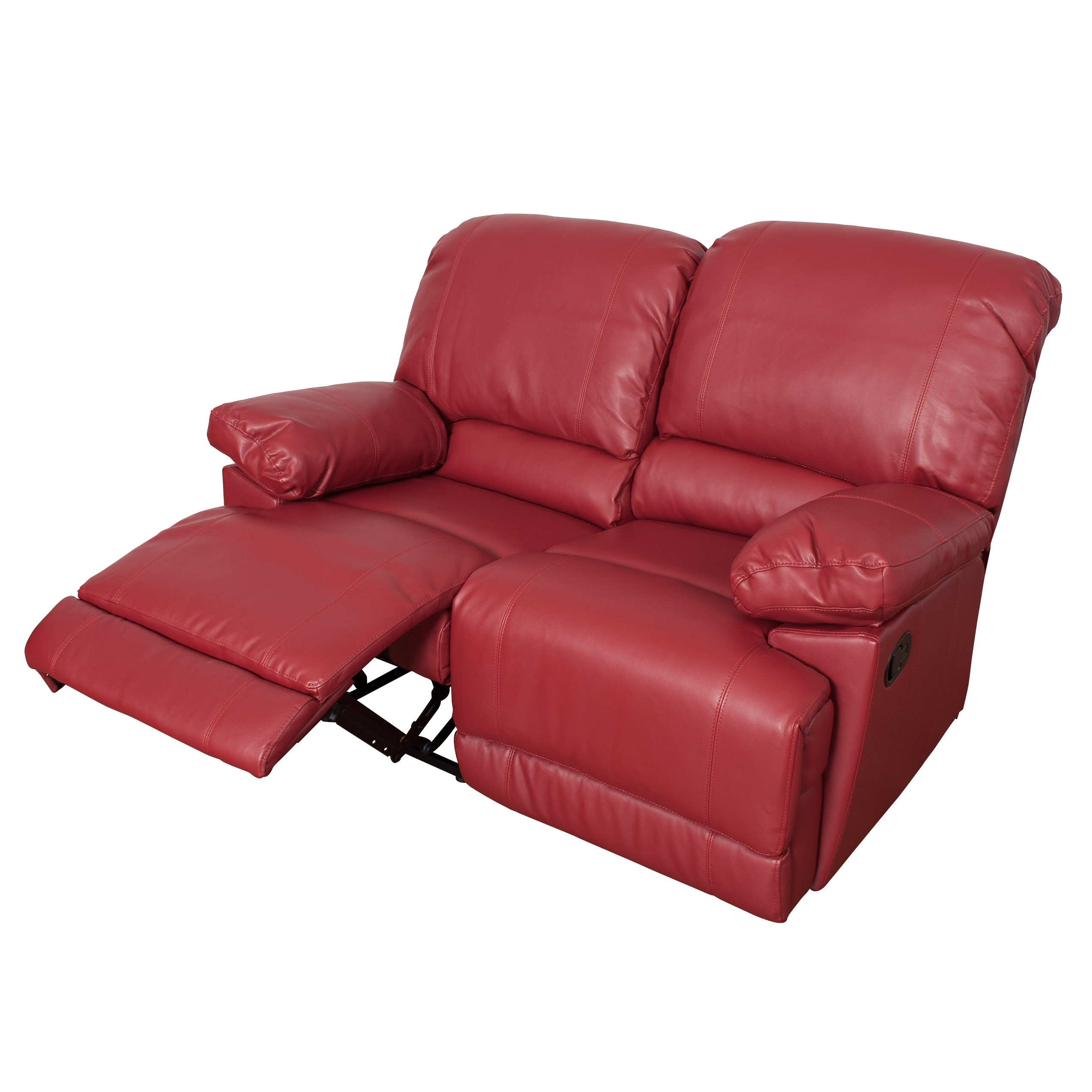 CorLiving Lea 3 Piece Bonded Leather Reclining Sofa