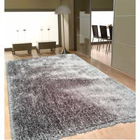 Soft as Silk Shaggy Rug Brimming with a Neutral Shade of Gray - 8' x 10'
