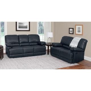 black living room sets. CorLiving Lea 2-piece Bonded Leather Reclining Living Room Set Black Sets E