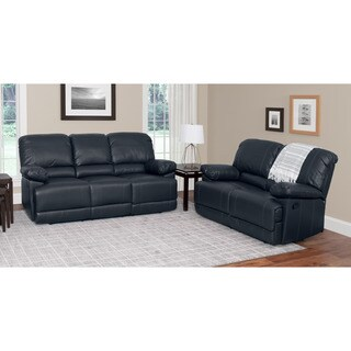 CorLiving Lea 2-piece Bonded Leather Reclining Living Room Set