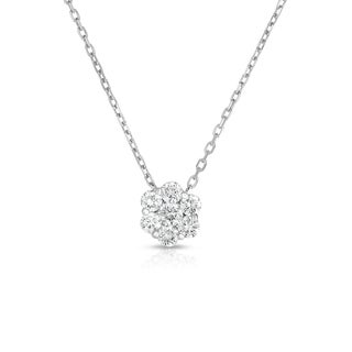 Noray Designs 14k White Gold 1/2ct TDW Diamond Cluster Pendant