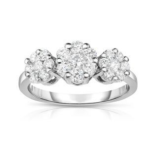 Noray Designs 14k White Gold 1ct TDW Diamond Cluster Ring