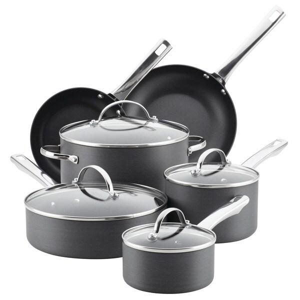 Farberware Hard-Anodized Aluminum Nonstick Cookware Set ...