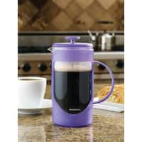 BonJour Coffee Unbreakable Plastic French Press, 8-Cup, Ami-Matin, French Lavender