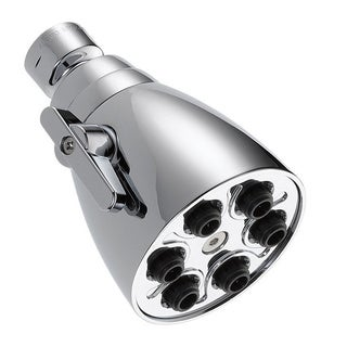Delta Universal Showering Components Silver Chrome-finished Brass and Plastic Water-efficient Showerhead