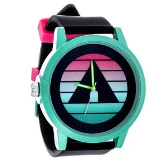 Airwalk Metal Alloy Design w/ Green Case and Black Strap Analog Watch