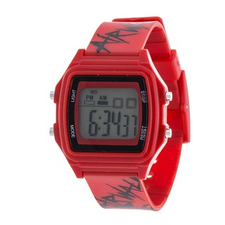 Airwalk Red Digital Watch w/ Silicon Strap Design