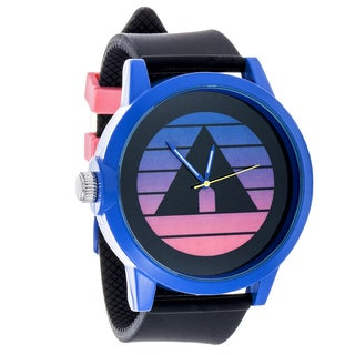 Airwalk Metal Alloy Design w/ Navy Blue Case and Black Strap Analog Watch