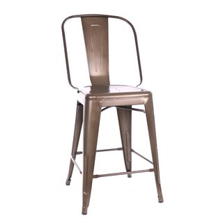 Amalfi Rustic Matte Steel Counter Chair 24-inch (Set of 4)