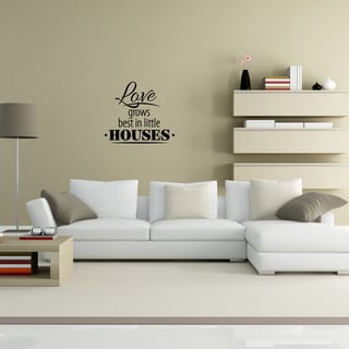 Style and Apply 'Little Houses' Black Vinyl Wall Decal
