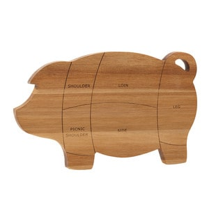 Paula Deen Pantryware Wooden Pig Cutting and Serving Board, 8.5-Inch x 14-Inch