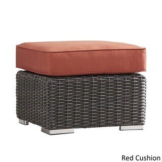 Barbados Wicker Outdoor Cushioned Grey Charcoal Grand Ottoman Table by NAPA LIVING