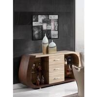Global Furniture Oak and Walnut Buffet - N/A