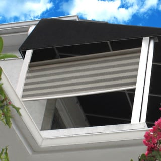 Lewis Hyman Radiance St. Croix Outdoor/Indoor Rollup Sunshade Bohemian Breeze Stripe Finish