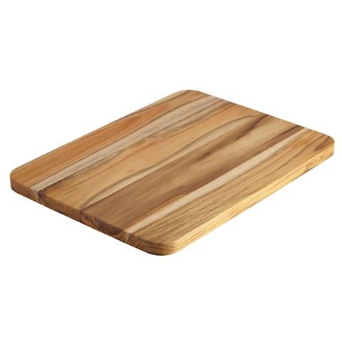 Anolon Pantryware Teak Wood Cutting Board, 16-Inch x 12-Inch