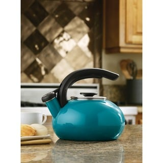 BonJour Enamel on Steel Tour Teakettle, 1.5-Quart