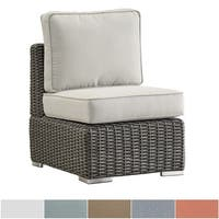 Barbados Wicker Outdoor Cushioned Grey Charcoal Sectional Middle Chair iNSPIRE Q Oasis