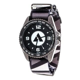 Airwalk Metal Alloy Case w/ Black Designed Cloth Strap Analog Watch