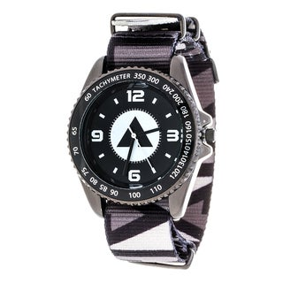 Airwalk Metal Alloy Case w/ Black Designed Cloth Strap Analog Watch