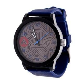 Airwalk Solid Navy Blue Silicon Strap Analog Watch