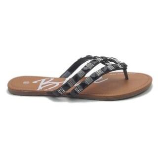 Blue Women's Mance Faux Leather/Rubber Sandals