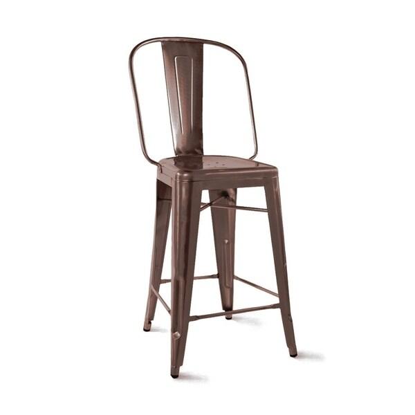 Shop Amalfi Rustic Matte Steel Counter Chair 26 Inch Set