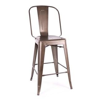 Amalfi Rustic Matte Steel Counter Chair (Set of 4)