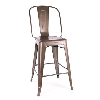 Amalfi Rustic Matte Steel Counter Chair 26 Inch (Set of 4) - N/A