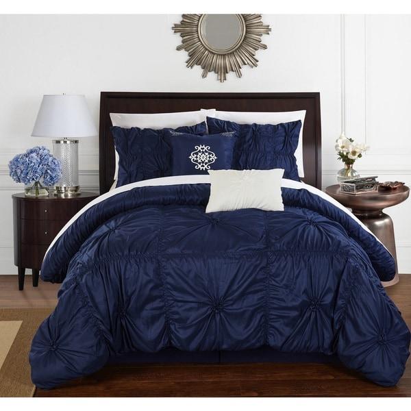 Chic Home 6-Piece Hyatt Navy Comforter Set