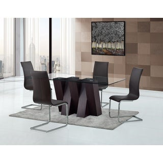 Modern Brown Faux Leather Dining Chair