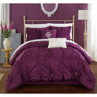 Chic Home 6-Piece Hyatt Purple Comforter Set