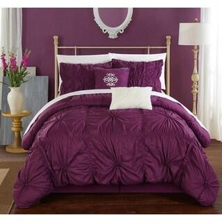 Chic Home 6-Piece Hyatt Purple Comforter Set