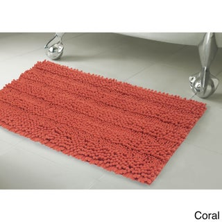Laura Ashley Astor Striped Plush Chenille 17 x 24 in. Bath Mat (More options available)