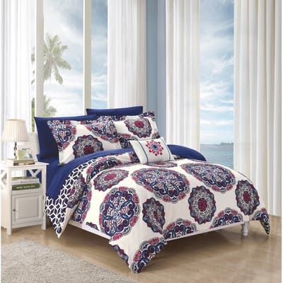 The Curated Nomad Savanna Navy 8-piece Bed in a Bag Comforter Set
