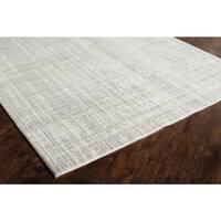 Delos Ivory Gray  Abstract Area Rug (8' x 10') - 8' x 10'