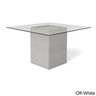 Manhattan Comfort Perry Sleek Tempered Glass Top Dining Table (3 options available)