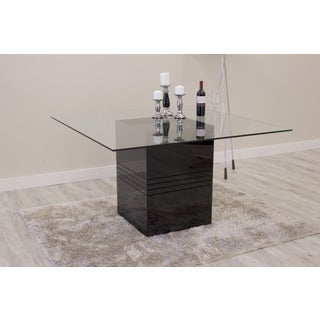 Manhattan Comfort Perry Sleek Tempered Glass Top Dining Table