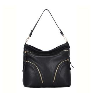 Madison West Lori Faux Leather Hobo Shoulder Bag