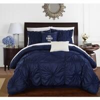 Chic Home 10-Piece Hyatt Navy Comforter Set