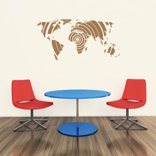 Style and Apply 'Retro World Map' Vinyl Wall Decal