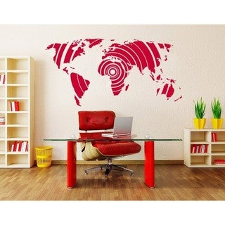 Shop Wall Coverings | Discover our Best Deals at Overstock  Ft World Map Decals on world map art, world travel decal, world map engraving, world map fan, world map of the wall, world map vase, world map large size, world map magnet, world map as background, world map fuse, world map card, world map tank, world map tape, world map poster, world history decal, world globe decal, world map sleeve, world map oil, world map mirror, world map design,